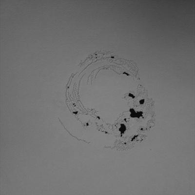 Looking, Listening drawing 5 by Sarah King, Drawing, Stitching without thread
