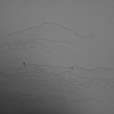 Looking, Listening drawing 6 by Sarah King, Drawing, Stitching without thread