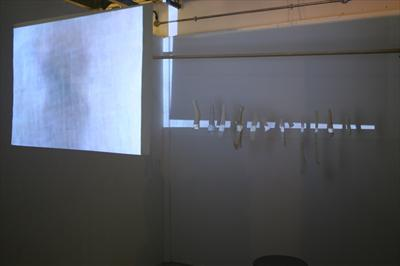 Trace #2 by Sarah King, Sculpture, Film, Stitched & knitted breath tubes