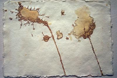 Untitled 1 by Sarah King, Drawing, Machine Embroidery on Rag Cloth